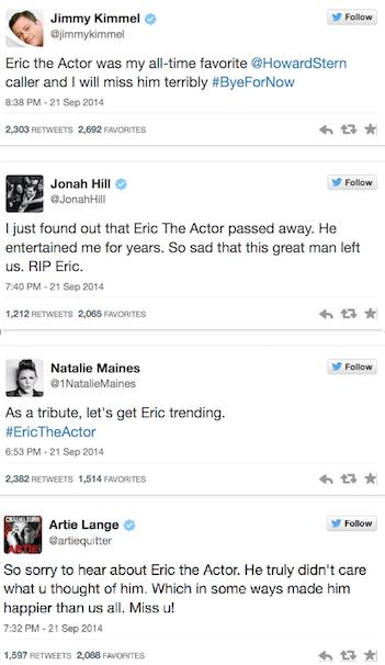 Eric the Midget tributes