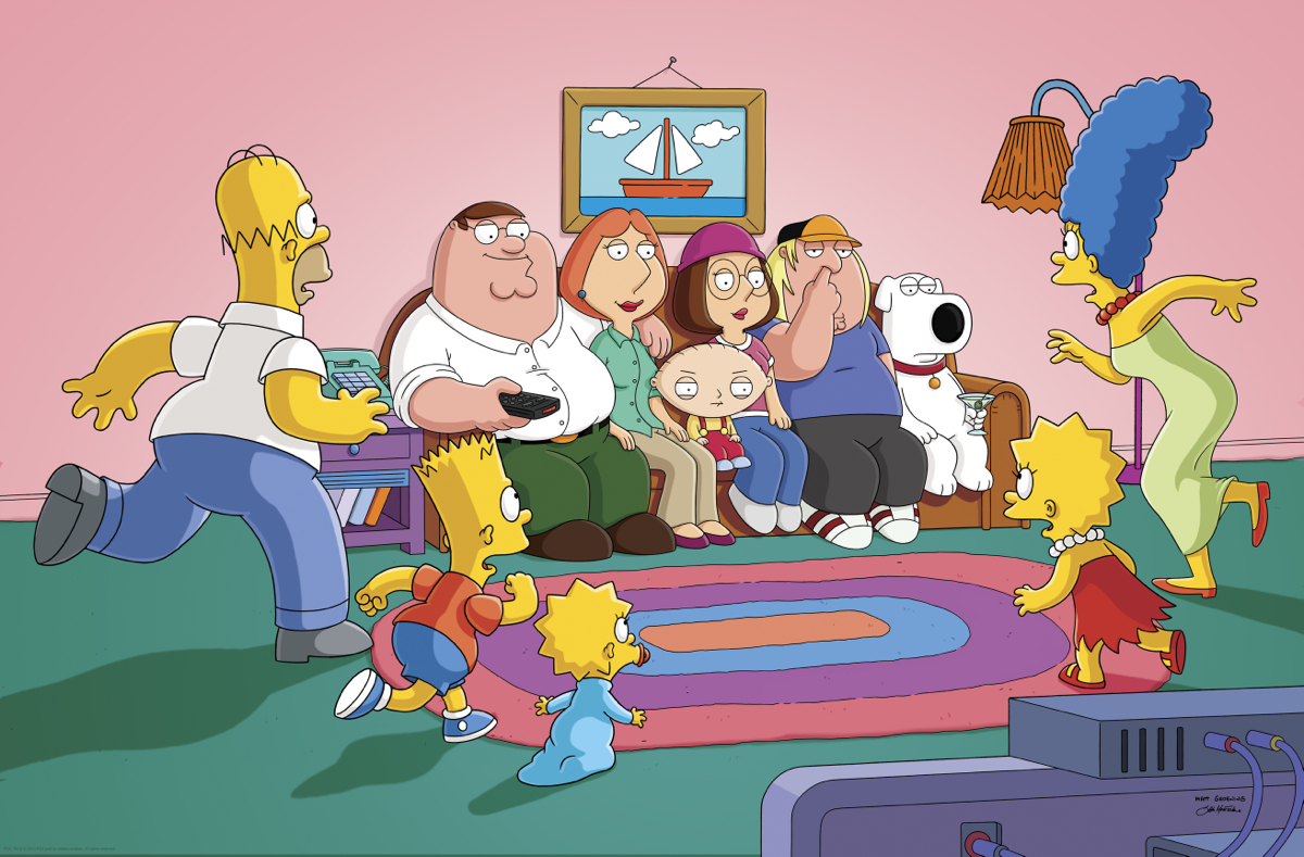 Family Guy - Simpsons - Couch Gag