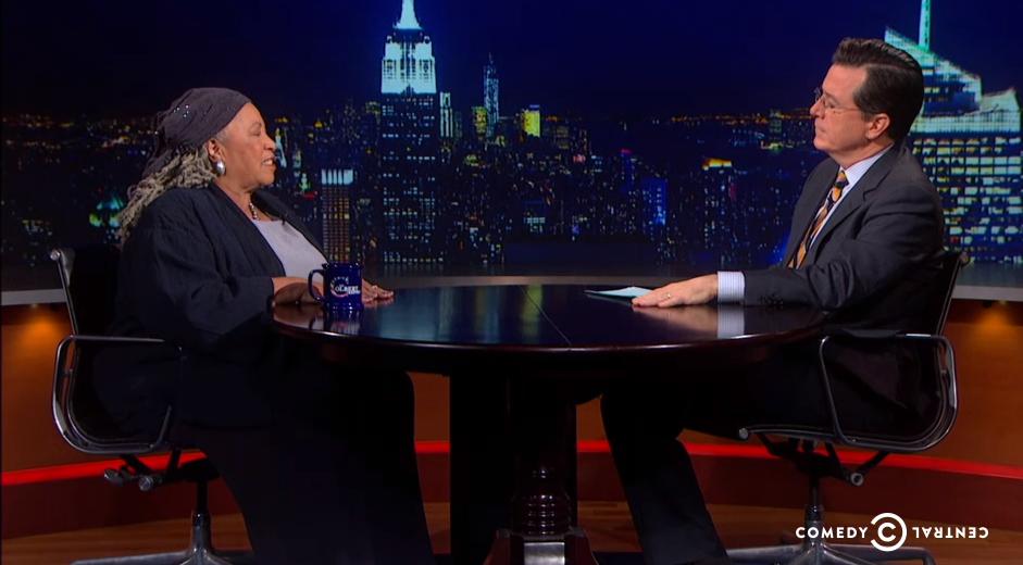 Toni on Colbert