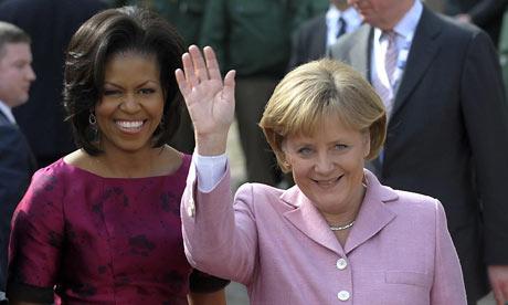 Michelle Obama and Angela Merkel
