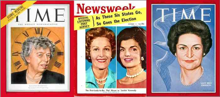 First Ladies on Time and Newsweek