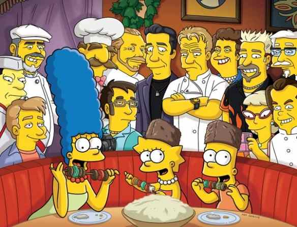 Celebrity chefs on The Simpsons