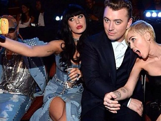 Sam Smith and Katy and Miley