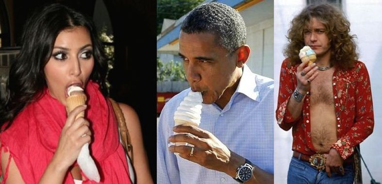 Kim, Obama, Plant, and Ice Cream