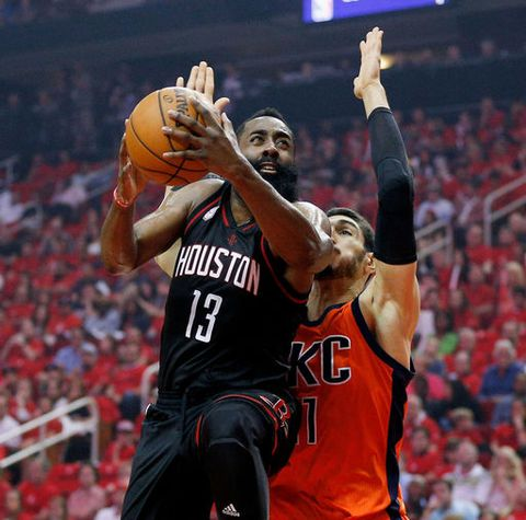 Harden has 37 points; Rockets rout Thunder, Westbrook 118-87 (Apr 16, 2017)