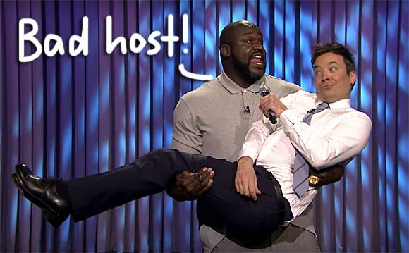 Shaquille O'Neal Treats Jimmy Fallon Like A Baby In The Weirdest Lip Sync Battle Ever!