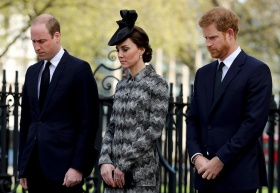 William, Kate, and Harry Join Families of Terror Attack Victims at a Church Service