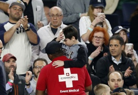 Boy struck on head by broken bat at Yankees game