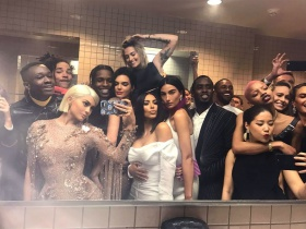 Kendall Jenner and A$AP Rocky Cuddle Up in Epic Bathroom Selfie at Met Gala