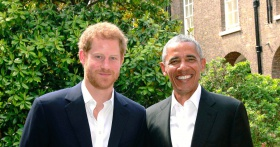 Reunited! Prince Harry and Barack Obama Meet Up at Kensington Palace