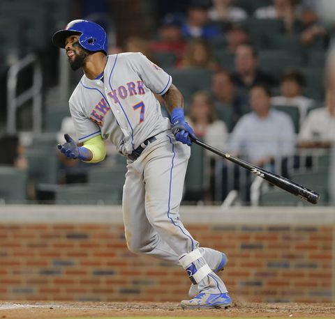 Reyes has 5 RBIs, Mets pound 20 hits off Braves in 16-5 rout (May 03, 2017)