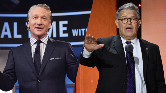 Al Franken Cancels Bill Maher Appearance, Calling N-Word Joke 'Inappropriate and Offensive'