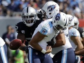 Jets' O-line faces challenge of trying to slow Raiders' Mack