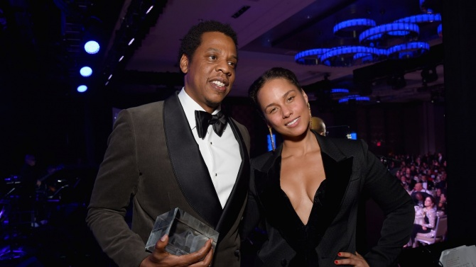 Clive Davis, Alicia Keys Honor Jay-Z at Pre-Grammys Gala