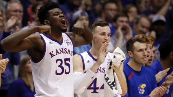 Graham leads No. 8 Kansas to 104-74 rout of Oklahoma