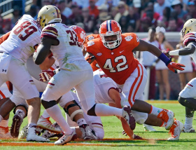 Clemson's defensive line back and intact for one more year